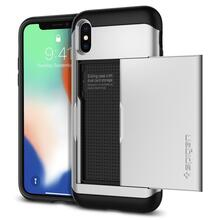 Чехол бампер Spigen Case Slim Armor CS Series для Apple iPhone X Satin Silver (Серебро)