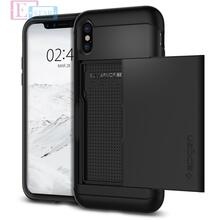 Чехол бампер Spigen Case Slim Armor CS Series для Apple iPhone X Black (Черный)