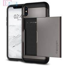 Чехол бампер Spigen Case Slim Armor CS Series для Apple iPhone X Gunmetal (Оружейный Металл)