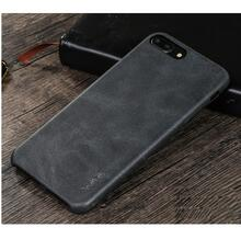 Чехол бампер X-Level Leather Case для Apple iPhone X Black (Чёрный)