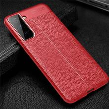 Чехол бампер Anomaly Leather Fit Case для Samsung Galaxy S21 Red (Красный)